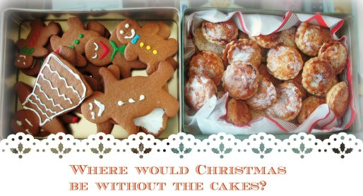 My mother taught me her traditional mince pies recipe. The gingerbread men were all my doing.